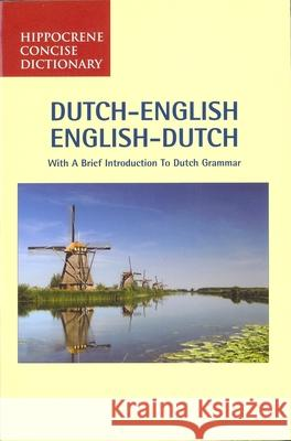 Dutch-English/English-Dutch Concise Dictionary Davidovic Mladen 9780870529108