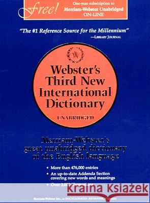 Webster's Third New International Dictionary, Unabridged Merriam-Webster 9780877792017