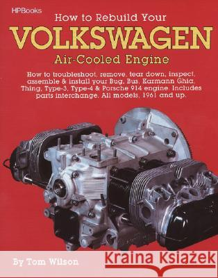 How to Rebuild Your Volkswagen Air-Cooled Engine: How to Troubleshoot, Remove, Tear Down, Inspect, Assemble & Install Your Bug, Bus, Karmann Ghia, Thi Tom Wilson Glen Grissom 9780895862259