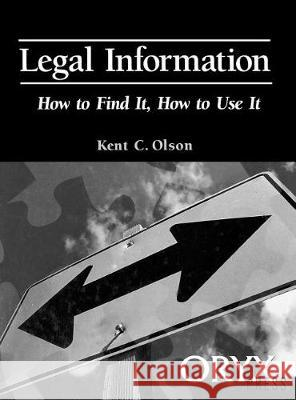 Legal Information Kent Olson Kent Clson 9780897749619