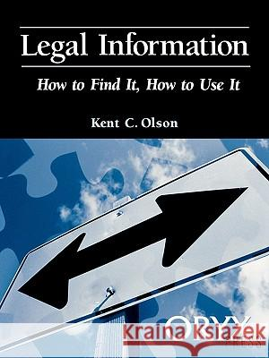 Legal Information Kent Olson 9780897749633