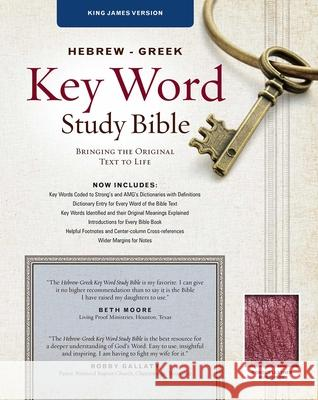 Hebrew-Greek Key Word Study Bible-KJV: Key Insights Into God's Word Spiros Zodhiates 9780899577470