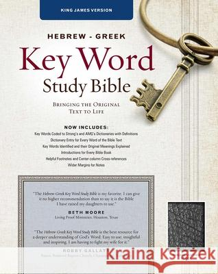 Hebrew-Greek Key Word Study Bible-KJV: Key Insights Into God's Word Spiros Zodhiates 9780899577487