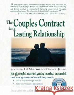 The Couples Contract for a Lasting Relationship [With CDROM] Ed Sherman Bruce Janke 9780944508589