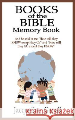 Books of the Bible Memory Book Jacqueline Genell 9780978763152