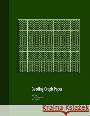 Beading Graph Paper: Peyote Stitch Graph Paper, Seed Beading Grid Paper, Beading on a Loom, 100 Sheets, Green Cover (8.5