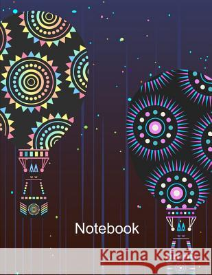 Notebook. Hot Air Balloons Cover Design. Composition Notebook. Wide Ruled. 8.5 x 11. 120 Pages. Bbd Gift Designs 9781075495519