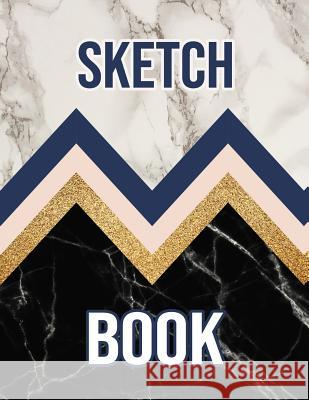 Sketch Book: Large Sketchbook Perfect For Sketching, Drawing And Creative Doodling (Stylish Black&White Marble Cover) Creative Lines 9781080270385