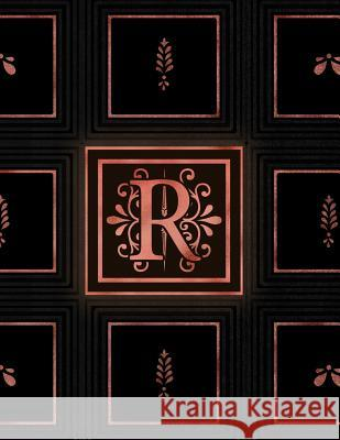 R: Rose Gold Initial Monogram 120 page weekly Journal & Planner Loumae Books Loumae Design 9781080586080