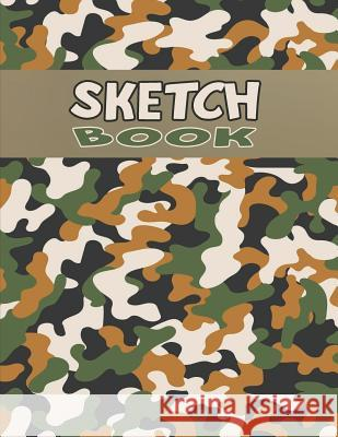 Sketch Book for Boys: Sketching Paper Notebook - Big Size Pages for Kids Drawing - Camouflage White Narrow Path 9781080927630
