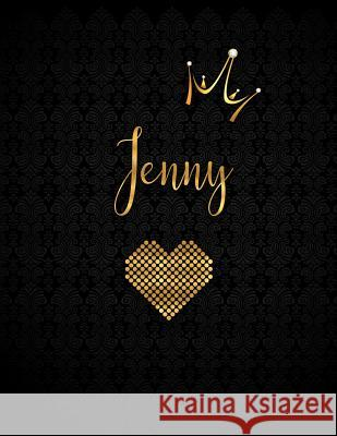Jenny: Black Personalized Lined Journal with Inspirational Quotes Panda Studio 9781082781629