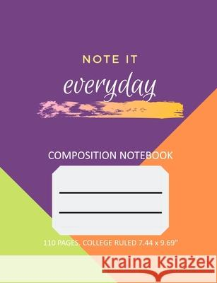 Composition Notebook - College Ruled - 110 pages Teratak Publishing 9781087218168