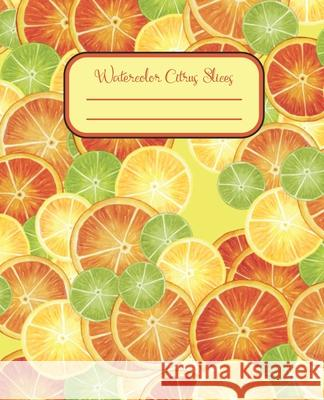 Watercolor Citrus Slices: Dot-Grid Notebook. 100 numbered pages with table of contents. Learn Something Books 9781087266145