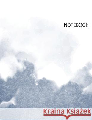 Notebook: Gray Watercolor Notebook (8.5 x 11 Inches) 110 Pages Ann Journals 9781087476254