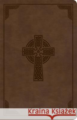 KJV Large Print Personal Size Reference Bible, Brown Celtic Cross Leathertouch, Indexed Holman Bible Staff 9781087742991