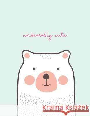Unbearably Cute: Dotted Grid Notebook Journal - Large A4 - Cute Bear on Turquoise Nifty Notebooks 9781090197375