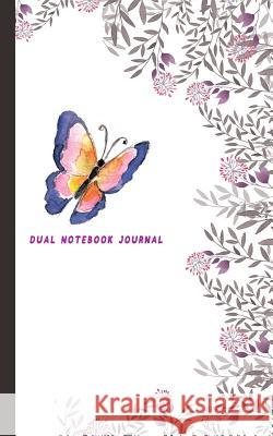 Dual Notebook Journal: Flower and Butterfly Half Graph Paper 4x4 (Four Squares Per Inch 0.25
