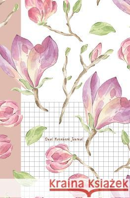 Dual Notebook Journal: Flower Journal Half Graph Paper 5x5 (Four Squares Per Inch 0.20