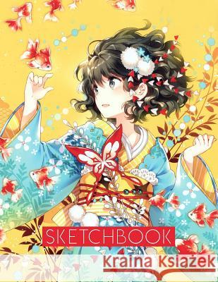 Sketchbook: Anime style cover, sketchbook for Drawing, Coloring, Sketching and Doodling manga, 8.5 x 11 110 pages Anime Cover 9781095463161