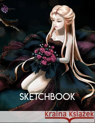 Sketchbook: Anime style cover, sketchbook for Drawing, Coloring, Sketching and Doodling manga, 8.5 x 11 110 pages Anime Cover 9781095465363
