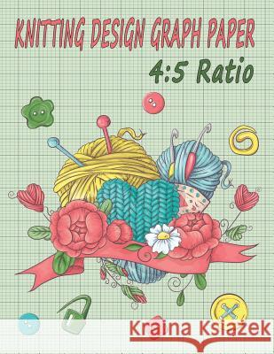 Knitting Design Graph Paper 4: 5 Ratio: Design Your Own Patterns & Projects Purple 3 9781099041464