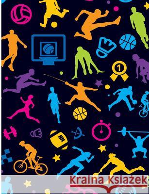 Future Allstar Sports Patterns: Sport Lover Wide Ruled Composition Book Jen Sterling 9781099843020
