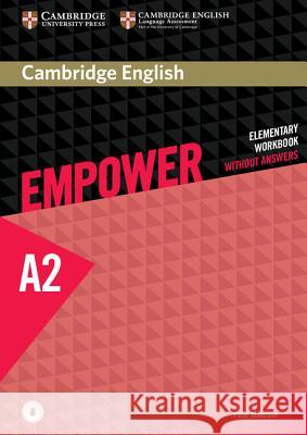 Cambridge English Empower Elementary Workbook Without Answers with Downloadable Audio Anderson Peter 9781107488748