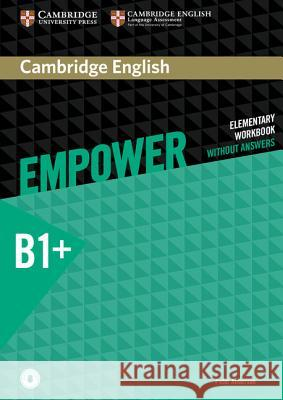 Cambridge English Empower Intermediate Workbook Without Answers with Downloadable Audio Anderson Peter 9781107488779