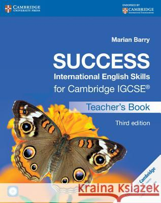 Success International English Skills for Cambridge Igcse(r) Teacher's Book with Audio CD Marion Barry Marian Barry 9781107496019