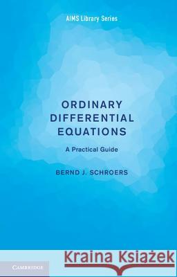 Ordinary Differential Equations: A Practical Guide Bernd J Schroers 9781107697492
