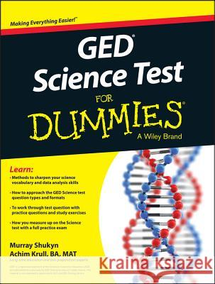 GED Science for Dummies Consumer Dummies,  9781119029885