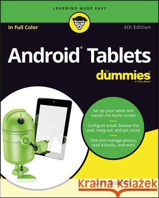 Android Tablets for Dummies Dan Gookin 9781119310730 For Dummies