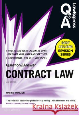 Law Express Question and Answer: Contract Law (Q&A Revision Guide) 3rd Edition  Hamilton, Marina 9781292066943