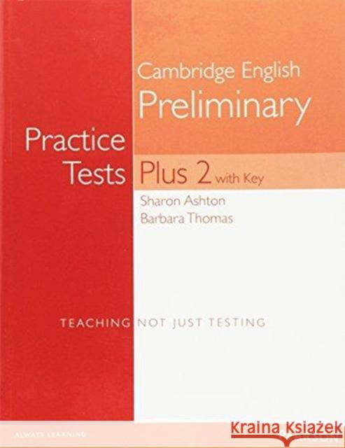 PET Practice Tests Plus 2 Students' Book with Key Barbara Thomas 9781292142395 Pearson Education Limited