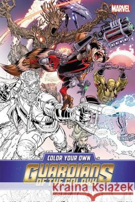 Color Your Own Guardians of the Galaxy Marvel Comics 9781302904401