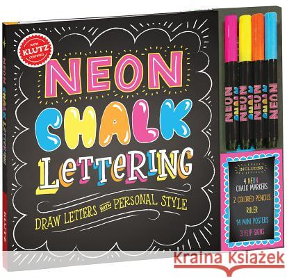 Neon Chalk Lettering Klutz Press 9781338037548 Scholastic Inc.
