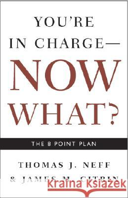 You're in Charge, Now What?: The 8 Point Plan Thomas J. Neff James M. Citrin Catherine Fredman 9781400048663 Three Rivers Press (CA)