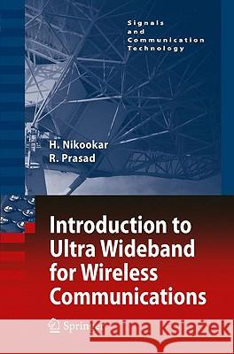 Introduction to Ultra Wideband for Wireless Communications Ramjee Prasad 9781402066320