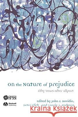 On the Nature of Prejudice John Dovidio Peter Glick 9781405127516