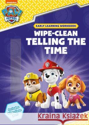 Wipe-Clean Telling the Time Charlotte Raby Scholastic  9781407194318