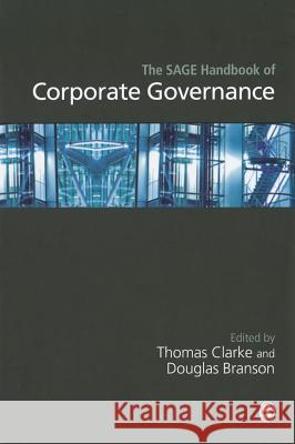 The Sage Handbook of Corporate Governance Thomas Clarke Douglas Branson 9781412929806