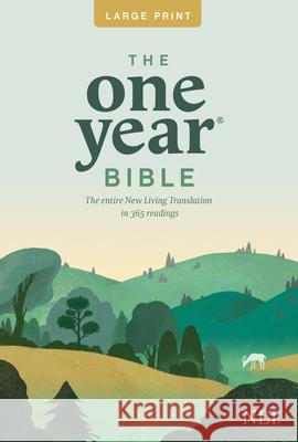 One Year Premium Slimline Bible-NLT-Large Print 10th Anniversary Tyndale House Publishers 9781414312446