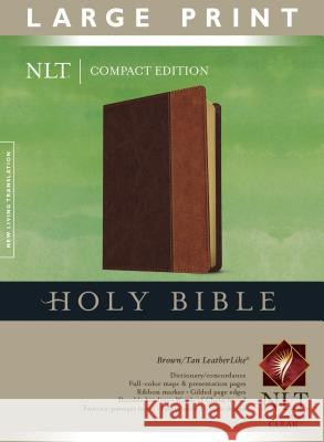 NLT Compact Edition Bible Large Print Tutone Brown/Tan Tyndale House Publishers 9781414312583