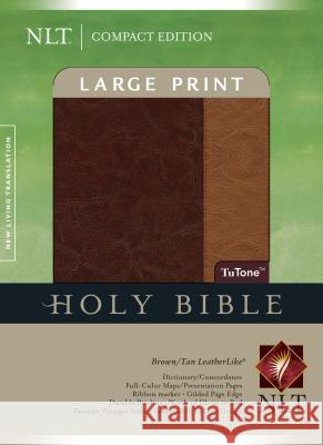 Large Print Bible-NLT-Compact Tyndale 9781414337593
