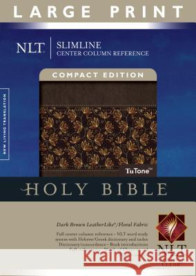 Slimline Center Column Reference Bible-NLT-Large Print Compact Tyndale 9781414338545