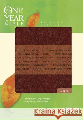 One Year Bible-NIV-Slimline: Arranged in 365 Daily Readings Tyndale 9781414338613