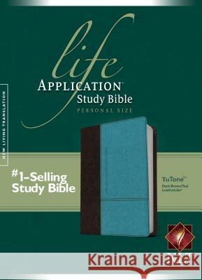 NLT Life Application Study Bible Personal Size Brown/Teal  9781414363363