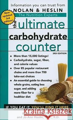 The Ultimate Carbohydrate Counter Annette B. Natow Jo-Ann Heslin 9781416570370