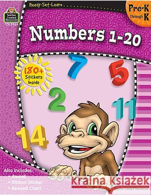 Ready-Set-Learn: Numbers 1-20 Prek-K Teacher Created Resources                Teacher Created Resources 9781420659641 Teacher Created Materials