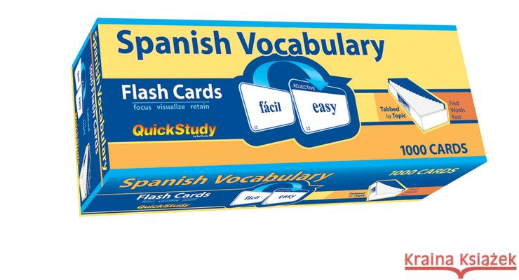 Spanish Vocabulary BarCharts Inc 9781423221661